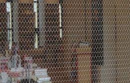 Transparent #roller shutter, yet still shut.