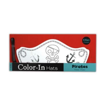 Colour-In Hats&Crown - Pirates - Bobangles #Mudpuppy #kids #colouring #craft