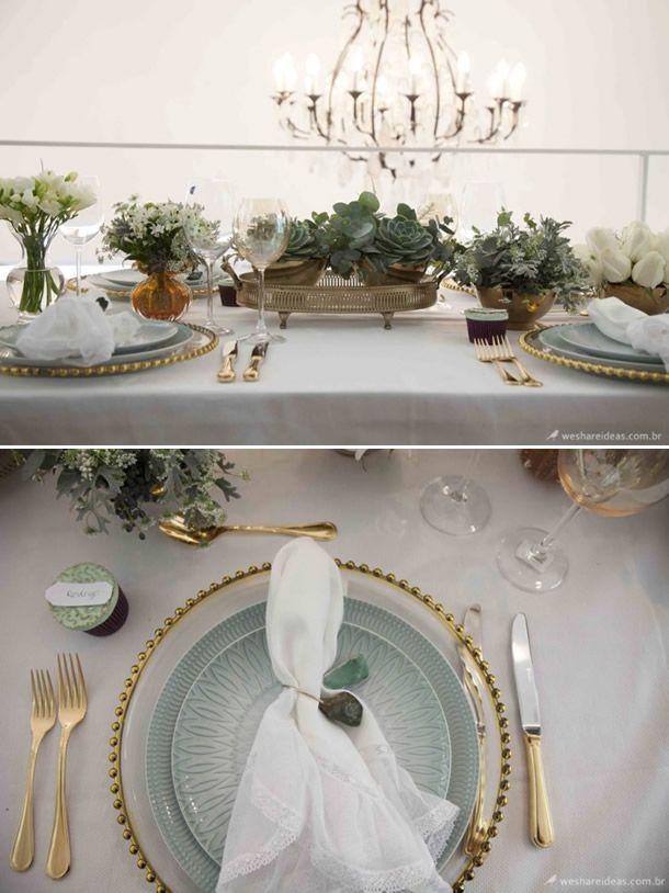 mesa clássica, mesa de jantar, mesa posta, como colocar a mesa, we share ideas, tablescape decor, mesa verde água