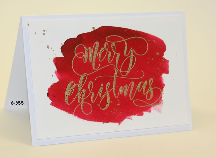 #SSS #SSSfave Simon says Stamp Merry Christmas embossed with Wow! rich gold and Ecoline watercolor with video https://www.youtube.com/watch?v=7f4pGGCbQ9o