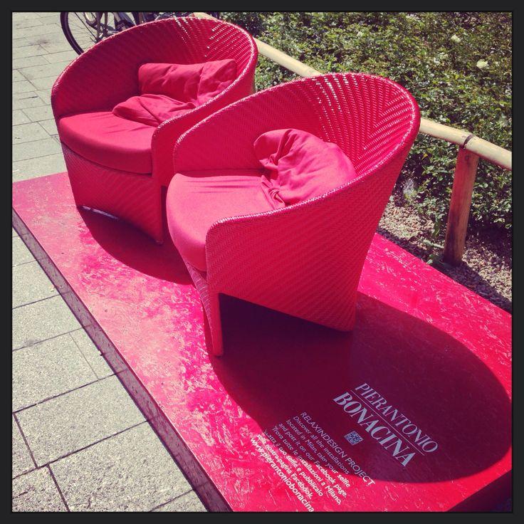Fuori Salone Installation  PIERANTONIO BONACINA  ☀️ #fuorisalone #corso #garibaldi #installation #pietroantonio_bonacina #milan #city #sun #italy #love #photo #location #like #life #social_network #pinterest #instagram #facebook #tumblr #twitter #foursquare #filtro #fashion #followers #colors #red