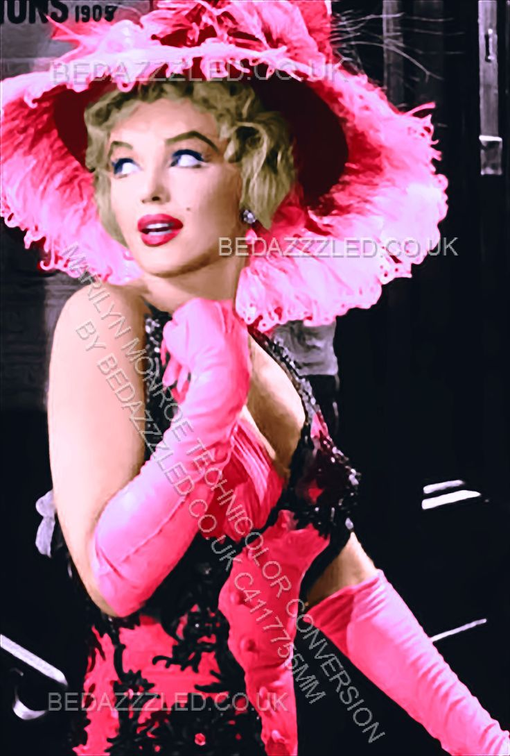 MARILYN MONROE TECHNICOLOR CONVERSION BY BEDAZZZLED FROM B/W PRINT