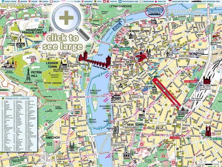 8 best prague top tourist attractions city travel maps for Best hotel location in prague