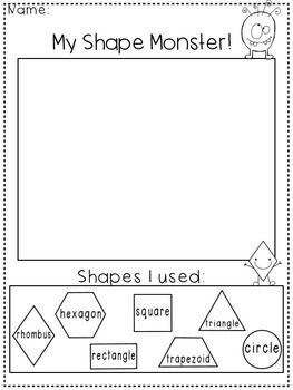 creating with shapes freebie kindergarten freebies teaching shapes 2d shapes kindergarten. Black Bedroom Furniture Sets. Home Design Ideas