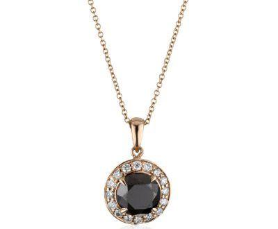 Kobelli Noir Round Black and White Diamond Pendant Necklace ►► http://www.gemstoneslist.com/jewelry/black-diamond-necklaces.html?i=p