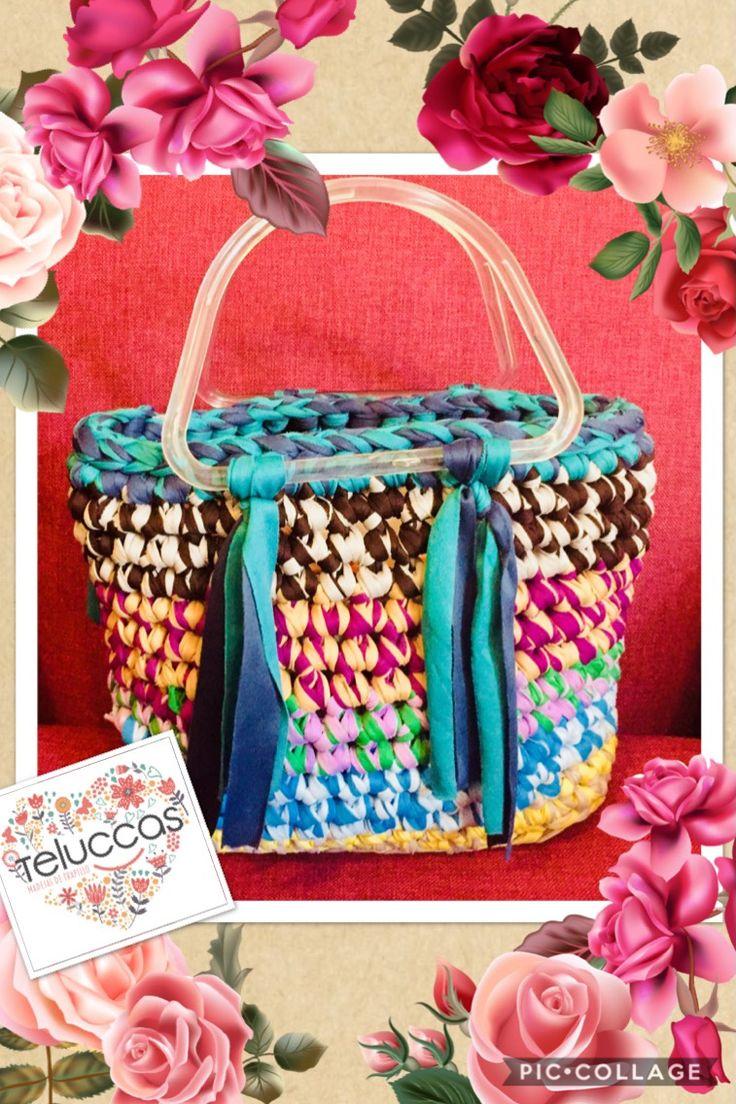 #creatividad con los sobrantes de tus madejas. Venta de #trapillo y materiales WhatsApp 5532324424. #bolsos #hobbies #tejer #tejido #reciclaje #hechoenmexico #hechoconamor #hechoconelcorazon  #regalos #regalosoriginales  #crochet #ganchillo