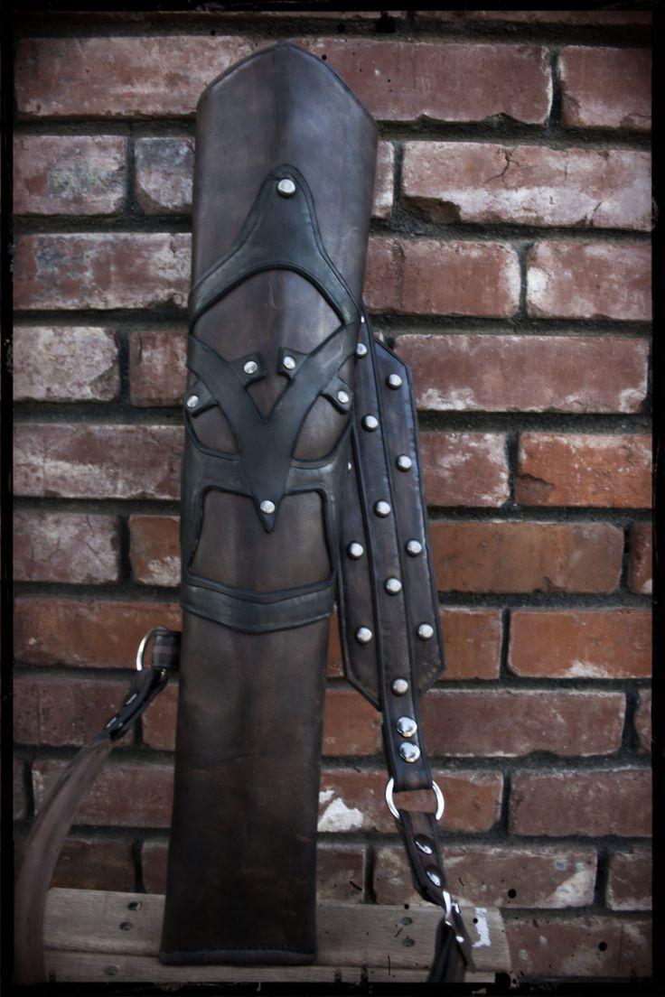 Custom  Studded Leather Ranger Archery Quiver. $140.00, via Etsy.