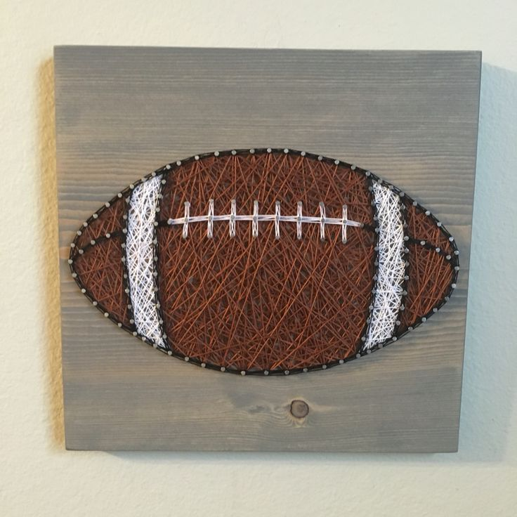 Football String Art- Order from KiwiStrings on Etsy ( www.KiwiStrings.etsy.com )