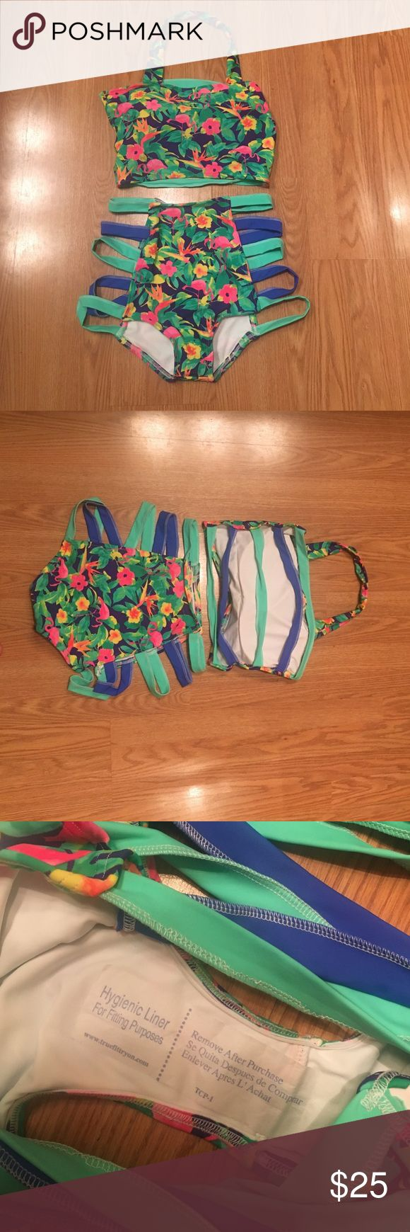 Beverly Swimwear High Waisted Bikini NWOT. Never been worn. Handmade high quality swimwear from Beverly Swimwear. Retails at $90. Has removable cups. Size medium. True to size. Beverly Swimwear Swim Bikinis