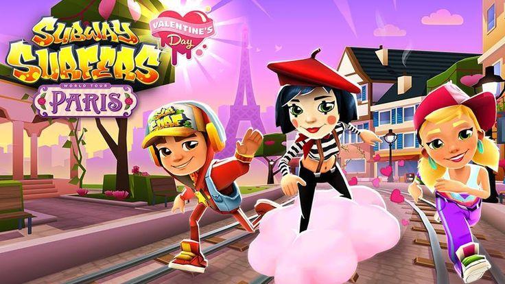 Subway Surfers World Tour Paris Celebrate Valentine's Day 2018 Gameplay