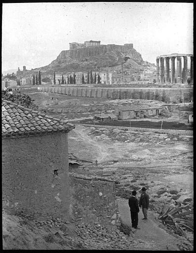 Grèce ; Athènes; Acropole Vue prise du temple Olympieion Photographe Roy, Lucien (architecte) Date prise vue 1908