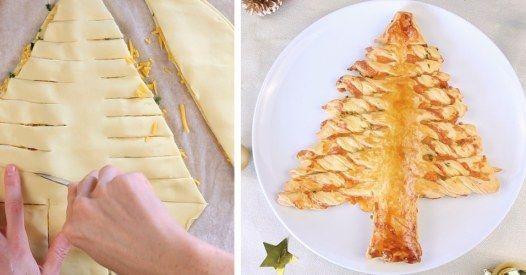 Ho ho ho! Mit diesem Rezept wird es weihnachtlich! Die Zutaten: - ca. 1 Packung geriebener (Cheddar-)Käse - 2 Packungen Fertig-Blätterteig - Schnittlauch...