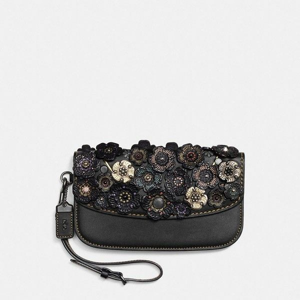 Coach Clutch ($325) ❤ liked on Polyvore featuring bags, handbags, clutches, coach crossbody, cross-body handbag, leather coin purse, wristlet clutches and wristlet crossbody