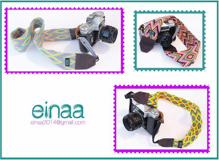 straps for cameras // correas para cámaras // cintas para cámaras // accesorios de fotografía // tejidos wayuu // sangle de cou // appareil photo // photographie // correas para cámaras con tejidos wayuu de Colombia // Contacto para pedidos a einaa2014@gmail.com
