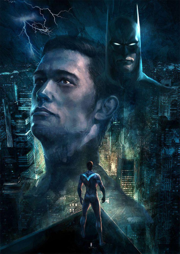 NightWing by ~ivangodComics Art, Comics Book, Night Wing, Ivan Tao, Dc Comics, Batman Trilogy, Superhero Stuff, Gotham Knights, Dark Knights