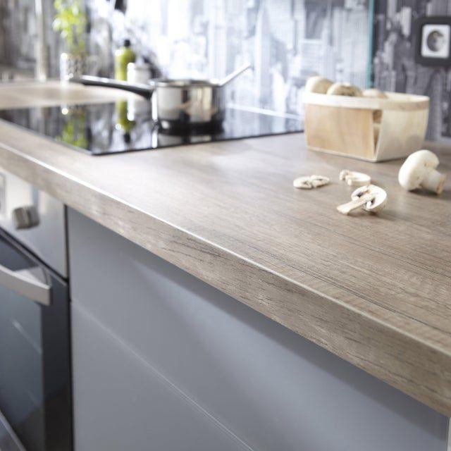 Plan De Travail Stratifie Planky Mat L 315 X P 65 Cm Ep 38 Mm Leroy Merlin Plan De Travail Cuisine Cuisine Cuisine Tendance