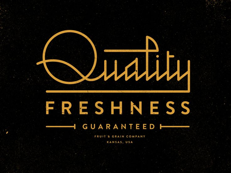 Quality Freshness / By Steve Wolf
