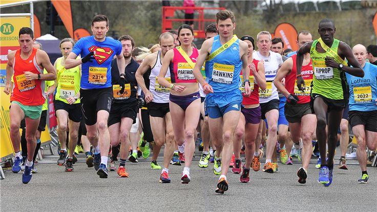 Boniface Kongin at the Morrisons Great Edinburgh Run 10mile relay