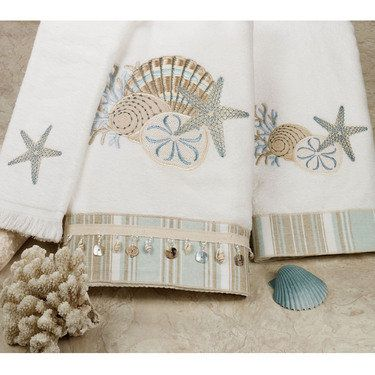 By the Sea Embroidered Bath Towels