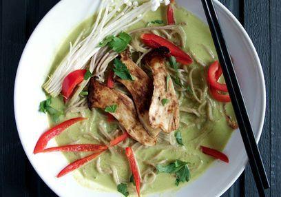 Vegetarische Thaise groene curry #avogelrecepten