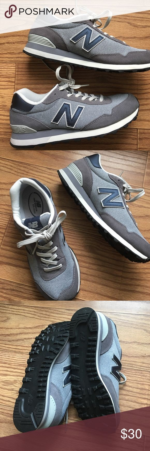 New Balance 515 Classic Sneakers New Balance Classics 515. Brand new. Size: 9.5 (true to size). Mix of gray, blue, and metallic blue. Gray parts of the shoe are suede. Black rubber sole. New Balance Shoes Sneakers