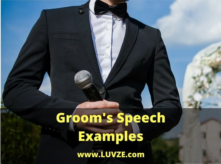 33 Groom's Speech Examples You Can Model AfterFacebookGoogle+PinterestTwitter