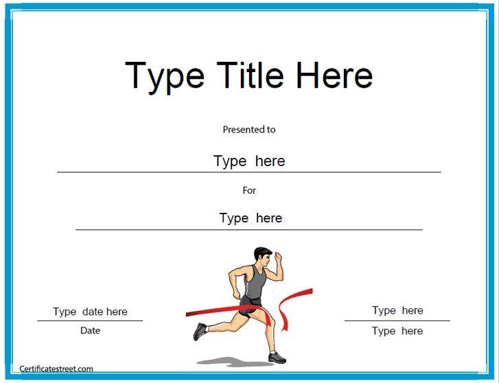 10 best Running Certificates images on Pinterest Certificate - award certificate template