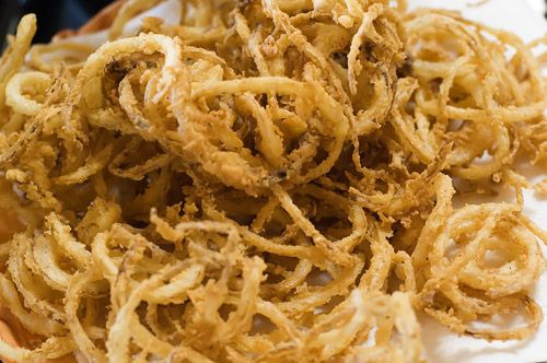 Onion Strings from the Pioneer Woman. I made some last night and they were absolutely fabulous! Thanks, Ree!