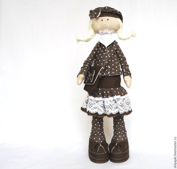 Купить Куколка в юбочке - кукла ручной работы, кукла в подарок, кукла Тильда, интерьерная кукла