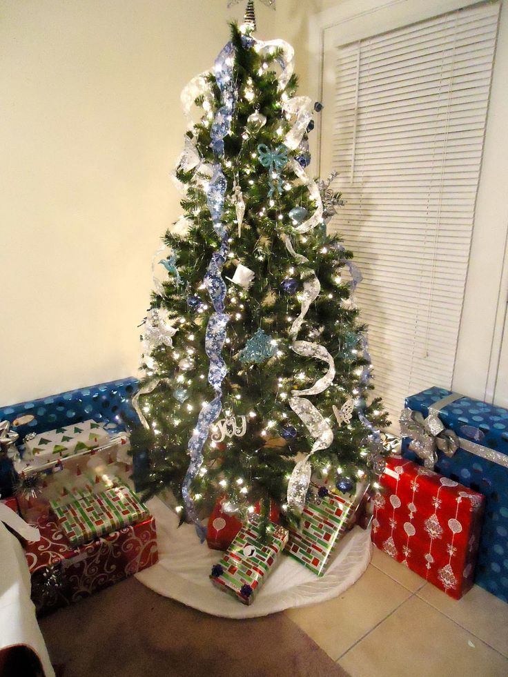 Xmas Tree Decorating Ideas With Cool Glittered Ribbon Tree Design For Christmas  Tree Decorating Ideas Modern