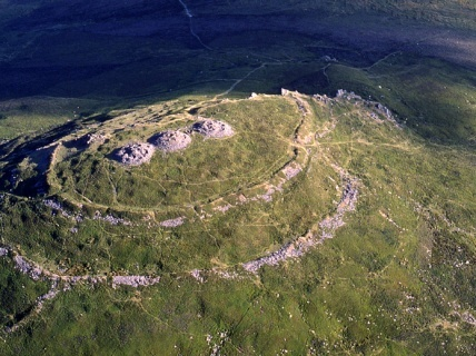 Foel Drygarn Hill fort and bronze age cairns