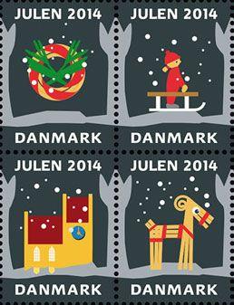クリスマス・シール2013年 懐かしいスクラップ Christmas Seal of Denmark