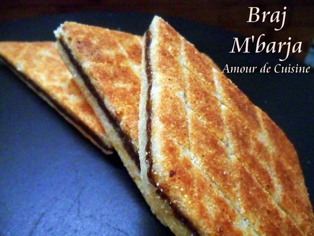 Bradj - gateau de semoule براج بالتمر - 1 amour de cuisine algerienne chez soulef