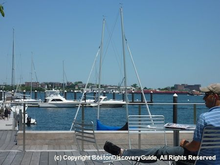 South Boston Waterfront (aka Seaport District) - Map, photos, details for Institute of Contemporary Art, Black Falcon Cruise Terminal, Bank of America Pavilion, Legal Harborside, plus more attractions, museums, restaurants, entertainment, hotels, transportation.