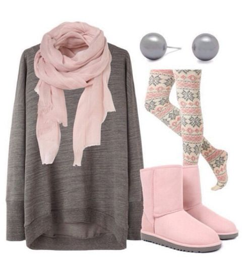 Winter Outfit with Pink UGG boots