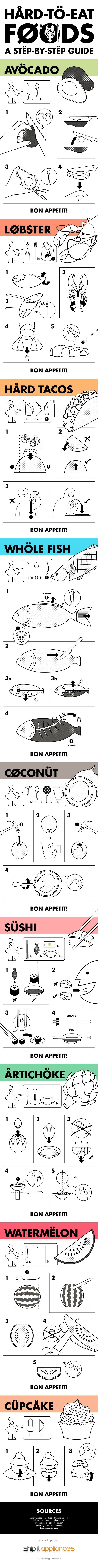 IKEA-Inspired Instruction Manuals Will Teach You How To Eat Difficult Foods - DesignTAXI.com