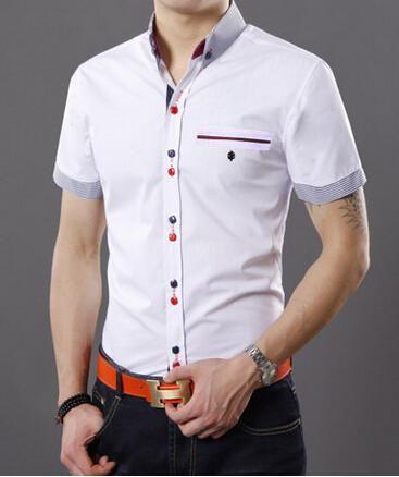 Resultado de imagen de moda camisa caballero manga corta