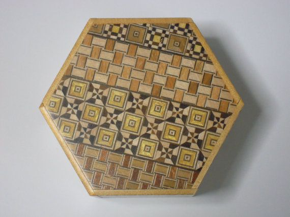 Japanese Puzzle box Himitsu bako HEXAGON Open by by tomomaru