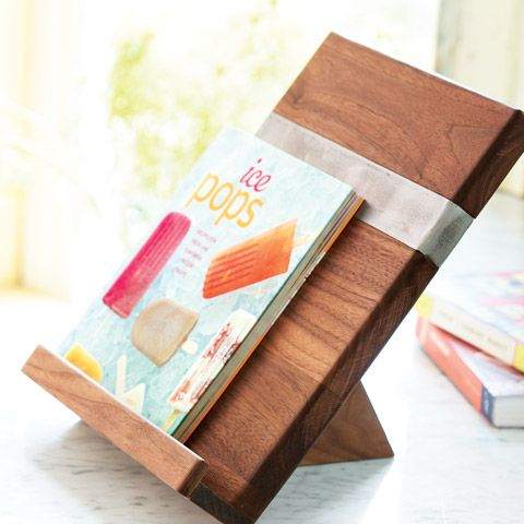 recycled elm cookbook stand