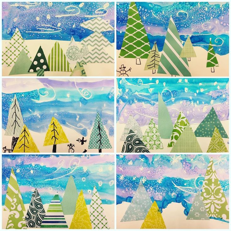 It's a frigid 50 degrees here in GA so #secondgrade has skipped fall and gone straight to winter! Students were pumped about the effects of oil pastel and salt with water color. #winteriscoming
