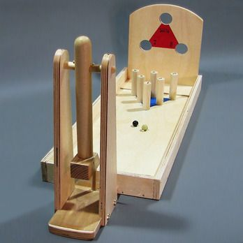 Marble Launch Woodworking Plan by Playful Plans