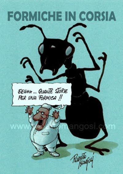 ITALIAN COMICS - A proposito di formiche, abituali frequentatrici di corsie d'ospedale...