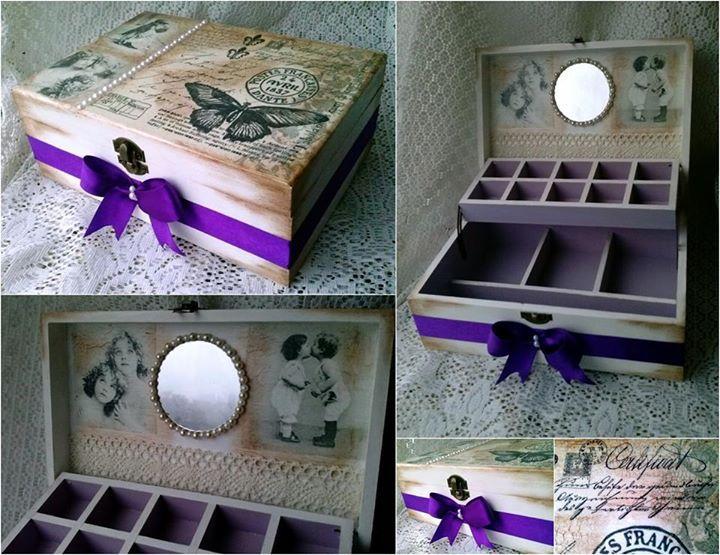 Decoupage vintage box
