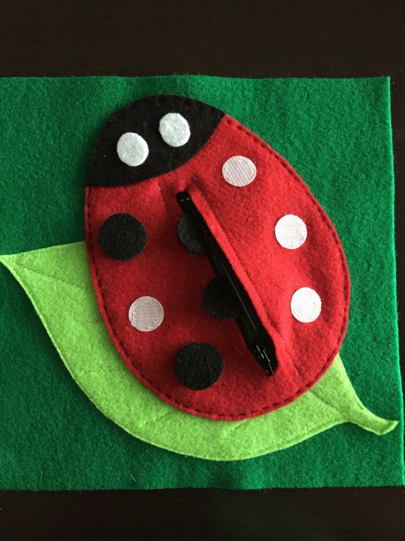 Lady bug Quiet Book Page by HannasQuietBooks on Etsy
