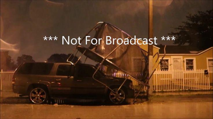 Brandon Oboikavitz Miami Florida Tornado Warning Wind Damage Power Flash...
