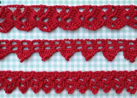Free patterns for Crochet Edgings              ❥Teresa Restegui http://www.pinterest.com/teretegui/ ❥