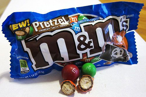 Pretzel M&Ms...great for a planning period snack, right @Sarah Chintomby Llewellyn ?