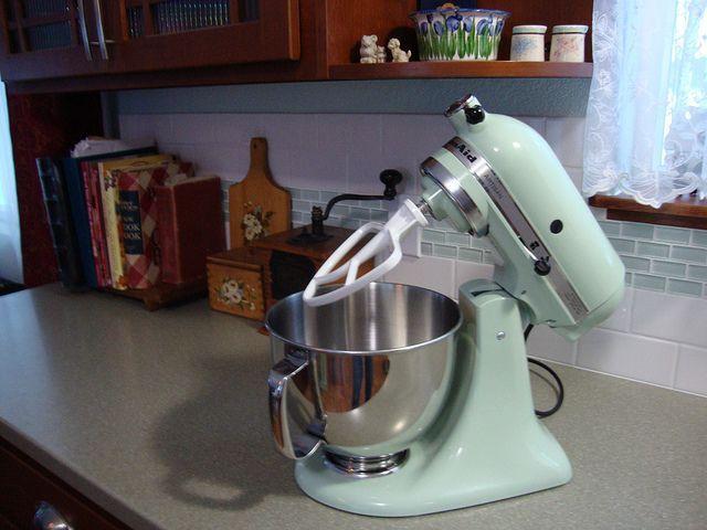 Photo Pistachio Kitchenaid Mixer | DSC01895 | My New KitchenAid Stand Mixer  In Pistachio Ice.