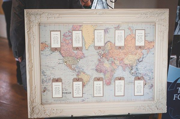 Pretty Pink Travel Wedding Map Seating Plan http://www.lucygphotography.co.uk/