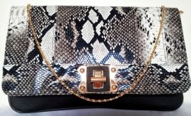 Clutch Slangenprint/goud